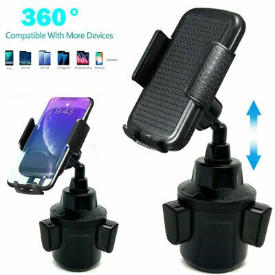Universal Cup Holder Car Mount Cradle For Cell Phone GPS iPhone Samsung Adjust
