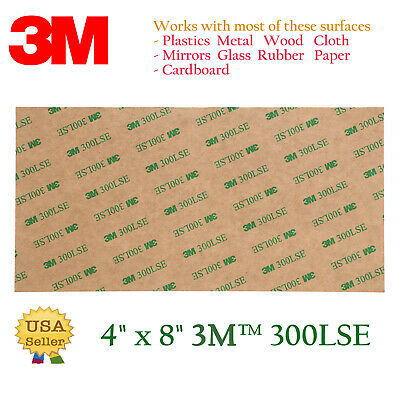 3M 300LSE 4x8 Double Sided-SUPER Adhesive Sheet Transparent Tape Sticker