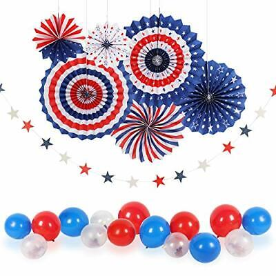 4thFourth of July Patriotic Decorations - Star Latex Balloons Party