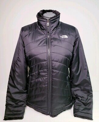 THE NORTH FACE Womens Black Mossbud Reversible Jacket Size SP