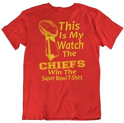kansas city CHIEFS SUPER BOWL TROPHY PARTY T-SHIRT-red football tee 2020 LIV