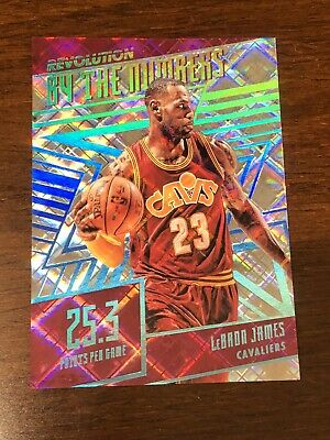 2016-17 Panini Revolution Lebron James By The Numbers Cosmic 100 Cavaliers