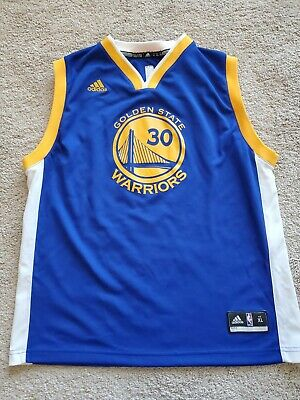 Steph Curry 30 NBA Golden State Warriors Adidas Jersey Youth XL