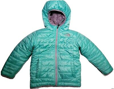 THE NORTH FACE TODDLER QUILTED FAUX SHERPA REVERSIBLE HOODED JACKET SIZE 3T