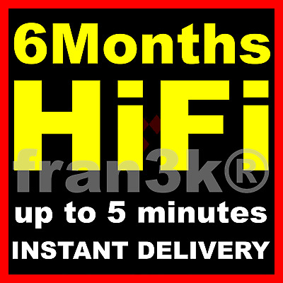 TIDAL Hi-Fi Master  6 Months GUARANTEED  INSTANT 5 min DELIVERY
