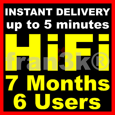TIDAL Hi-Fi Master FAMILY Plan  4 Months 6 Users GUARANTEED  INSTANT DELIVERY