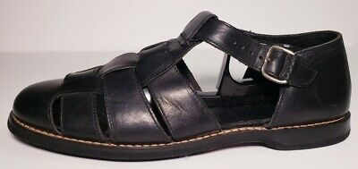 Cole Haan Country Mens Black Leather Fisherman Sandals Size 9-5