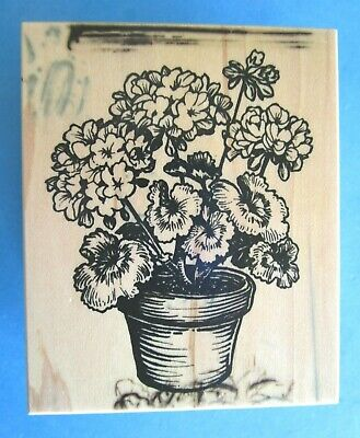 PSX POTTED GERANIUM Rubber Stamp G-2009 FLOWERS