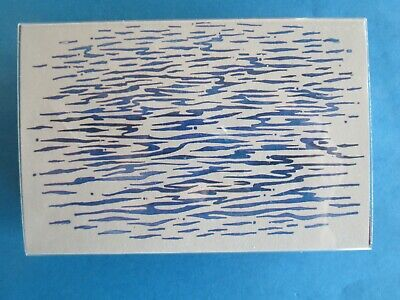 WATER PATTERN Rubber Stamp BACKGROUND RIPPLES