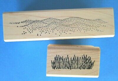 GRASS - SAND Rubber Stamp SCENERY Rubber Stamps of America
