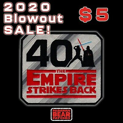 STAR WARSThe EMPIRE STRIKES BACK 40th Anniversary BIG 5 inch iron-on patch