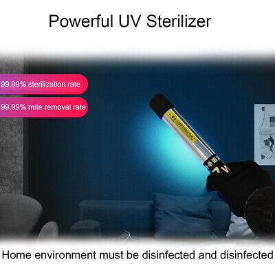 Ultraviolet Germicidal Light UVC Disinfection Sterilizer Kill Dust Mite UV Lamp