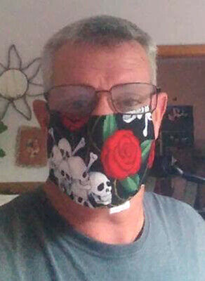 Allergy Face Cover - Sneeze Cough  - Pollen Guard - WASHABLE - Cool Designs