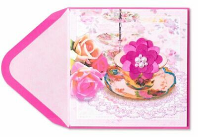 Papyrus Teacup with Flower Mothers Day Greeting Card