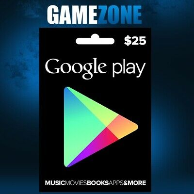 $25 Google Play Store Credit USA Only Dollars Android USD United States Digital
