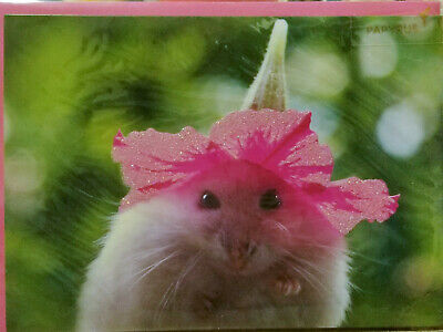 Papyrus Mouse with Petunia Hat Mothers Day Greeting Card