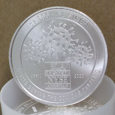 ENVELA CORPORATION 1 OZ -999 SILVER ROUND COVlD COIN