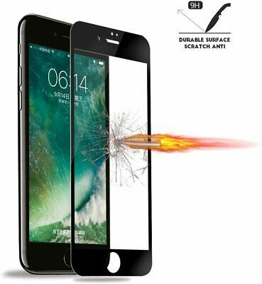 for iPhone SE 2020 8766s Full Coverage Screen Protector Tempered Glass -Black