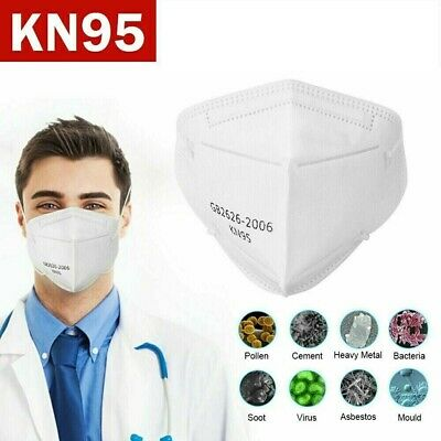 KN95 Face Mask 40 Piece Protective Respirator Covers Mouth - Nose K N95 5-Layer