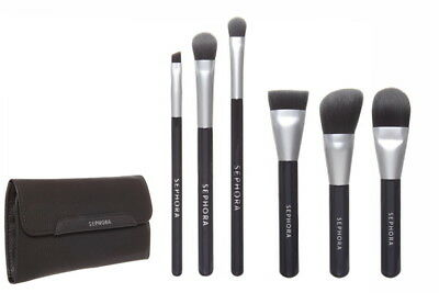 SEPHORA COLLECTION Deluxe Charcoal Antibacterial Brush Set Full SZ NEW Auth 62