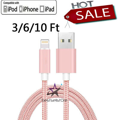 For iPhone 6 7 8 iPhone XS XR Lightning Charger Cable 3610FT USB Charging Cord