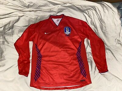 NIKE KOREA FOOTBALL CLUB WORLD CUP HOME SHIRT LS 2006-08 SIZE XL ADULT