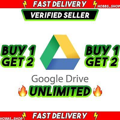 Google Drive UNLIMITED For Your Account BUY 1 DRIVE GET 2  LIFETIME  ✅Premium