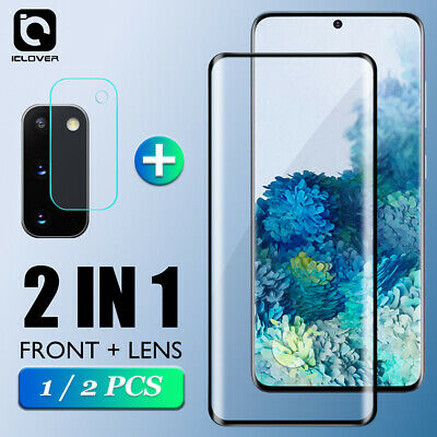 For Samsung Galaxy S21 20 Ultra Plus Tempered Glass Camera Lens-Screen Protector