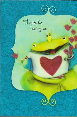 Fathers Day Greeting Card THANKS FOR LOVING ME THANKS FOR LEAPING-