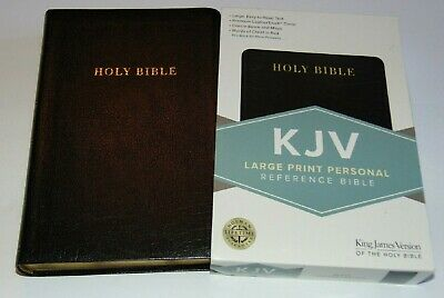 KJV Bible Large Print Black Bonded Leather Cover King James Version BRAND NEW