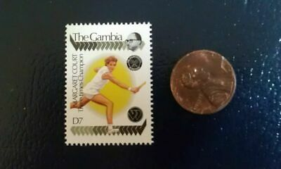 Margaret Court Female USTA Tennis The Gambia Wimbledon Perforated Stamp RARE