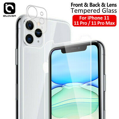 For iPhone 12 11 Pro Max Front-Back-Camera Lens Tempered Glass Screen Protector