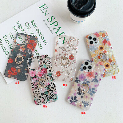 Flowers Ring Stand Phone Case Cover For iPhone 11 Max X XR Xs 7 12 12Pro SE2020