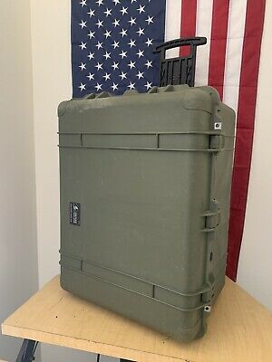 OD Green Pelican 1630 Protector Rolling Transport Case W Wheels - Handle