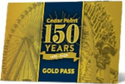 CEDAR POINT 2020 - 2021 GOLD PASS EARLY ENTRY PARKING AND DISCOUNTS FOR 2 YEARS