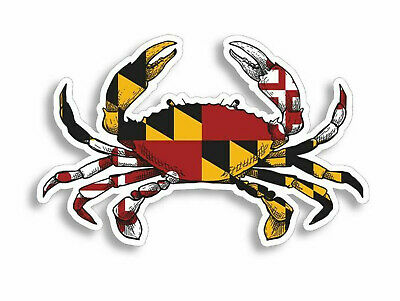 Maryland Crab MD State Flag Sticker Vinyl Decal 4-586