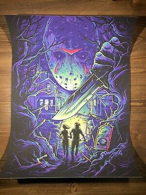 Mondo Jason Friday The 13th Art Print Movie Poster Dan Mumford X250 NYCC 2019