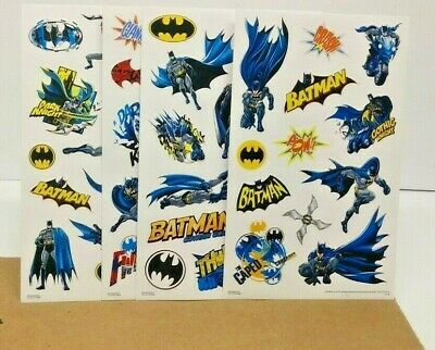 DC COMICS BATMAN STICKER SHEETS 4 TOTAL NOT WRAPPED OLD STOCK