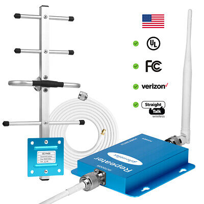 Cell Phone Signal Booster 850MHz 2G 3G 4G LTE Repeater AT-T Verizon Amplifier B5