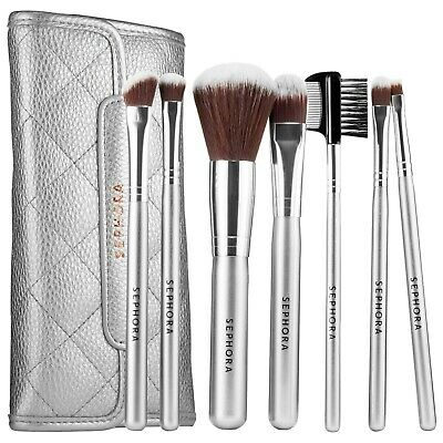 SEPHORA COLLECTION Deluxe Antibacterial Brush Set 7 piece Full SZ NEW Auth 62
