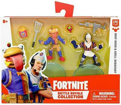 New Fortnite Battle Royale Collection - BEEF BOSS - GRILL SERGEANT - Figures