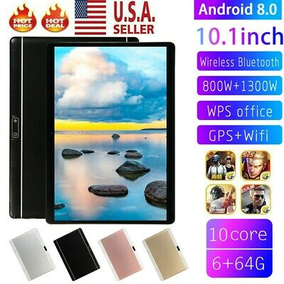Ten Core 10-1 Inch HD Game Tablet Computer PC Wifi Dual Camera GPS Android 8-0