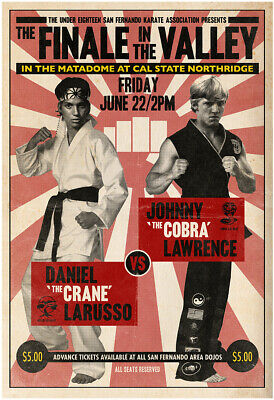 1984 The Karate Kid  Larusso VS Lawrence Fight Poster  Cobra Kai   🐍🥋🐍