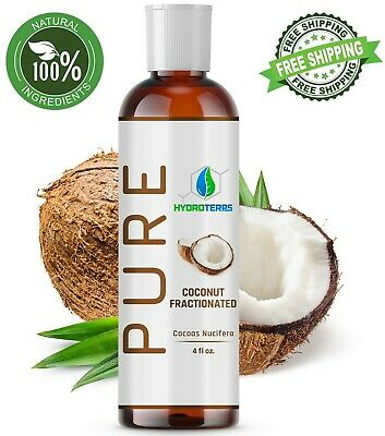Fractionated Coconut Oil 4 oz 100 Pure Natural For Skin Hair Growth - Massage