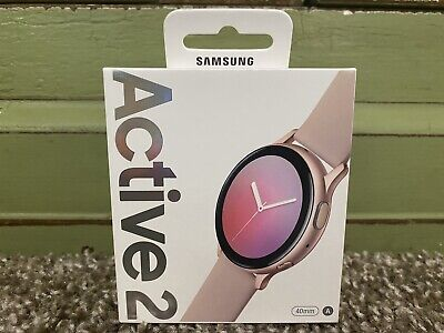 NEW SEALED Samsung Galaxy Active 2 Smartwatch GPS WIFI 40mm Pink Gold SM-R830