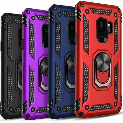 For Samsung Galaxy S9  S9 Plus Case Ring Kickstand - Tempered Glass Protector