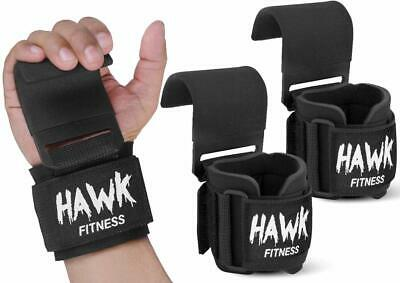Weight Lifting Hooks Grips with Wrist Wraps - Straps Powerlifting Weightlifting