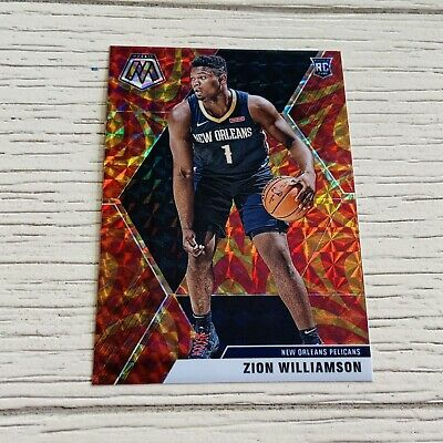 2019-20 Zion Williamson Mosaic GoldRed Sticker - New Orleans Pelicans - NBA 🔥
