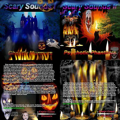 Scary Sounds I - II 2 Halloween Horror Sound Effects CDs - 2013