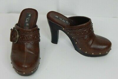 Steve Madden Rule Size 6 Doraa Mule Clog Leather Heels Casual Work Clothes
